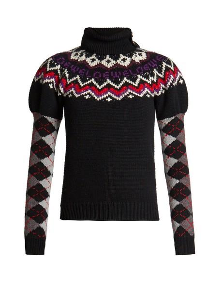 LOEWE sweater wool knit black