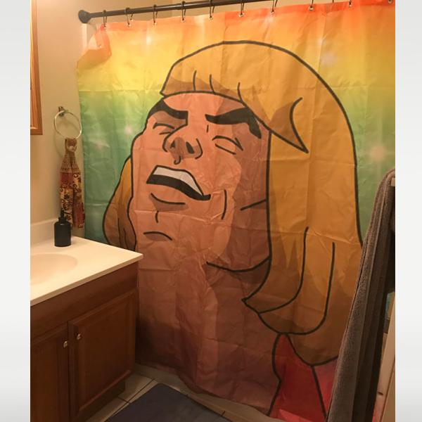 He Man Sings Shower Curtain