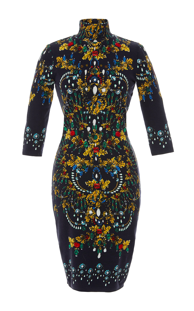 Jewel Print Turtleneck Dress By Blumarine Moda Operandi