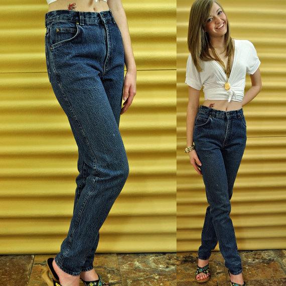 80s vintage high waisted jeans / acid wash by rockstreetvintage