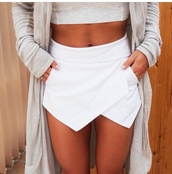 skirt,gorgeous,white,skorts,shirt,cardigan,shorts,clothes,classy,stylish,style,lovely piece,white skirt,origami,blouse,bloggerfashion,white dress,jacket,white skort,www.ebonylace.net,ebonylacefashion,shop style,mini skirt