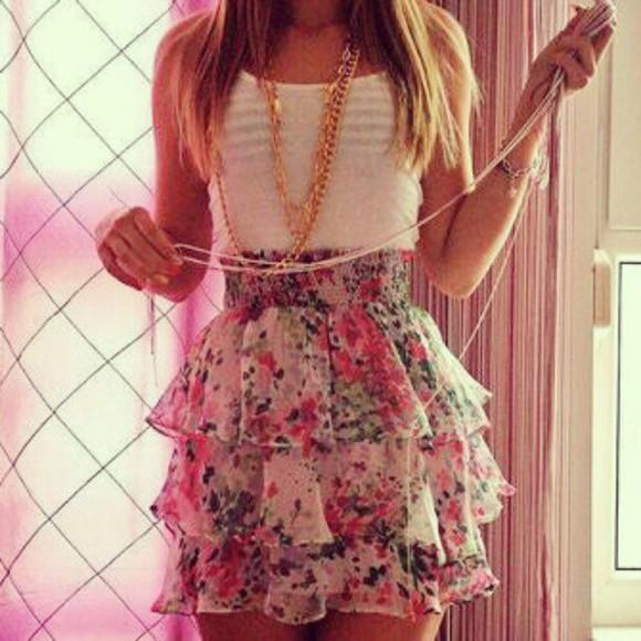 mini floral skirt mini skirt ruffle ruffle skirt ruffle floral skirt ruffle mini skirt