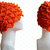 Orange Crochet Crocodile Stitch Hat / Beret