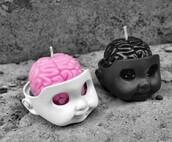 home accessory,goth,pastel goth,cool,cute,kawaii,skull,candle,lolita,pastel,creepy,creepy cute,gothic lolita,pastel pink,home decor,creepy kawaii,halloween decor