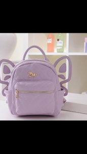 bag,purple,backpack,pastel goth