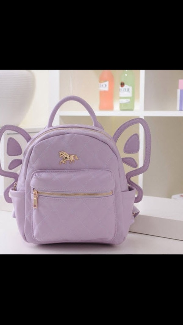 bag purple backpack pastel goth