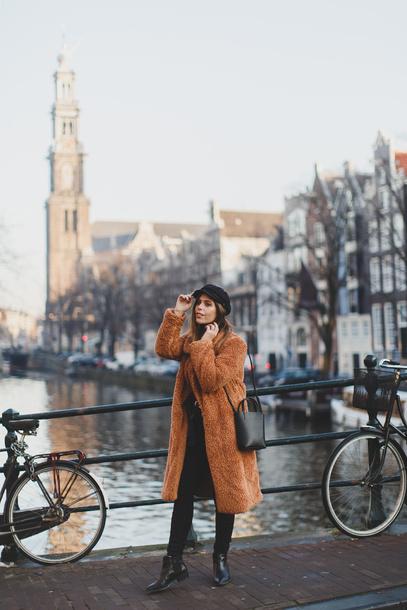 wish wish wish blogger coat t-shirt jeans hat shoes bag