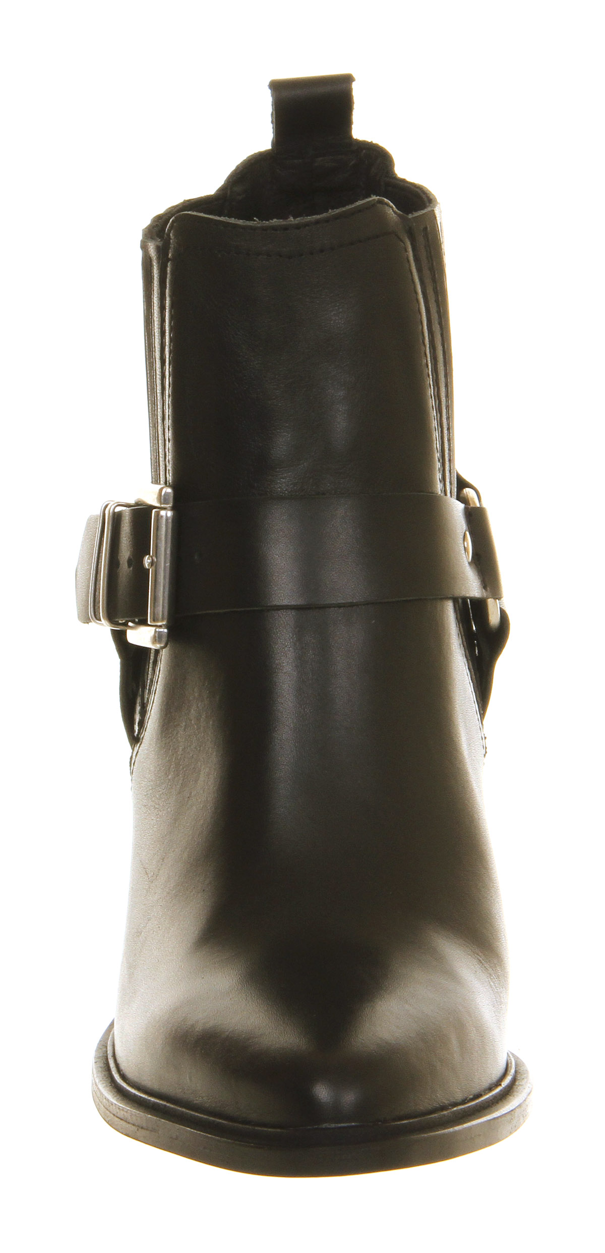 Office Chaplin Smart Stirrup Boot Black Leather - Ankle Boots