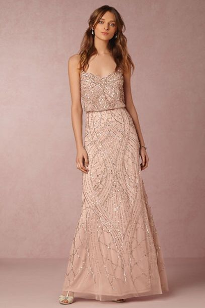 Dress: rose gold, prom dress, long prom dress, backless prom dress ...