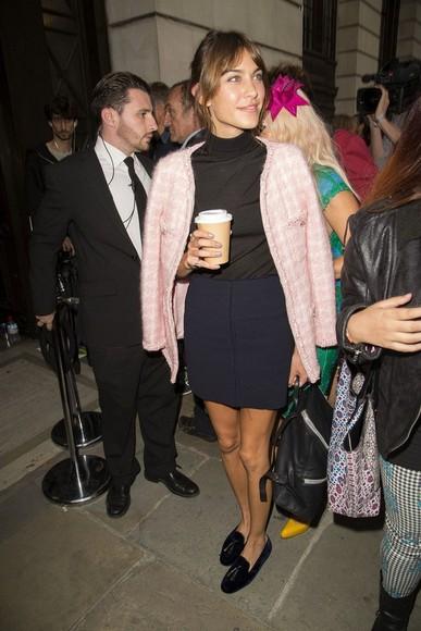 alexa chung fashion week 2014 jacket