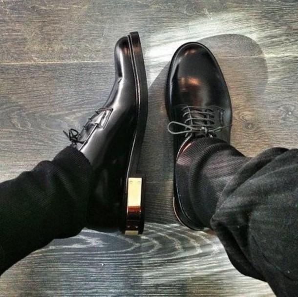 Mens Black And Gold Boots Shoes Black Gold Dress Men