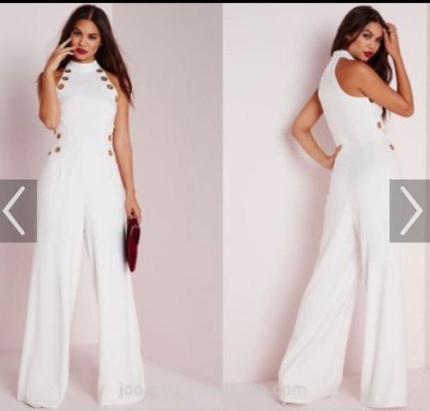 jumpsuit white white jumpsuit cute girly classy party outfits sexy sexy  outfit summer outfits spring outfits 0a560f4586b5