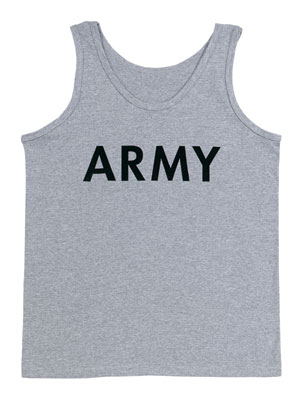 Grey Army PT Tank Top [60080] - $7.99 : Perret's Army Surplus, military surplus, army supply, army navy surplus Military Surplus and Outdoor Store