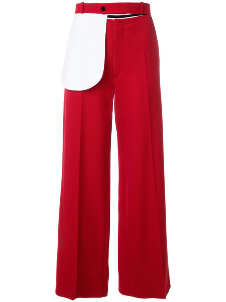 Joseph women cotton wool red pants