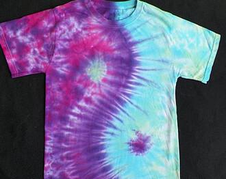 t-shirt tee tie dye hippie yin yang