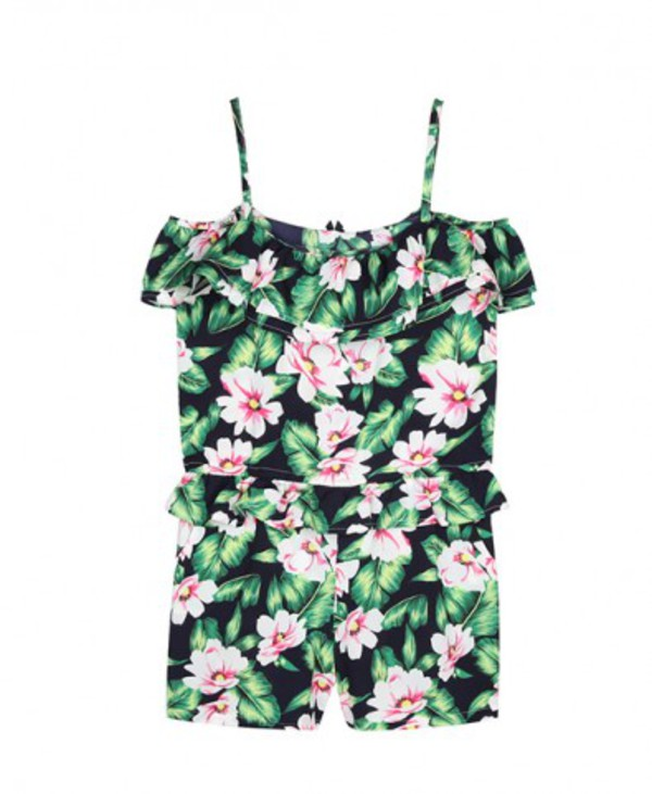 jumpsuit romper floral fashion blogger