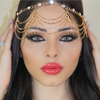 jewels body chain headband style swimwear hair accessory make-up