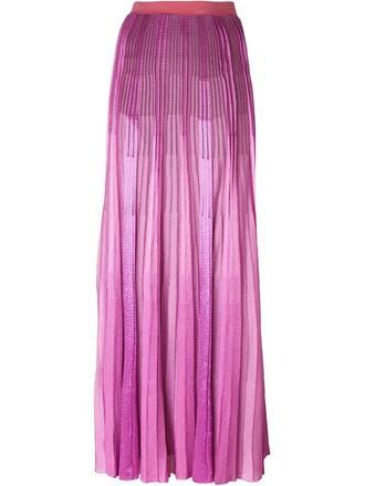 skirt maxi skirt maxi pleated knit purple pink