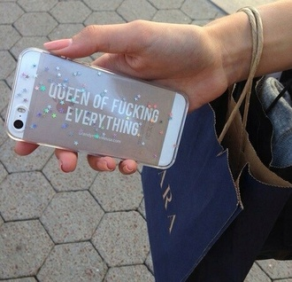 phone cover queen quote on it iphone case gold sparkly iphone 5 case
