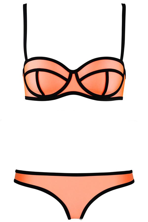 Sexy victoria's secret beach solid orange bikinis