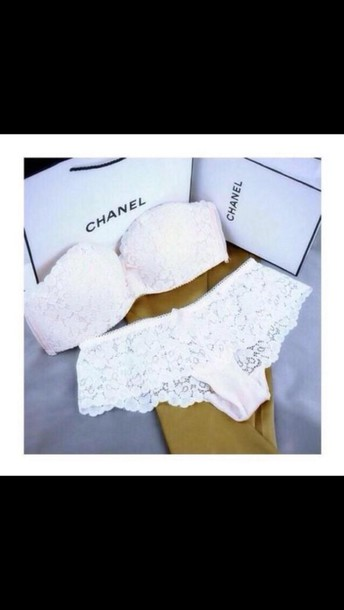 underwear chanel lingerie lace lingerie
