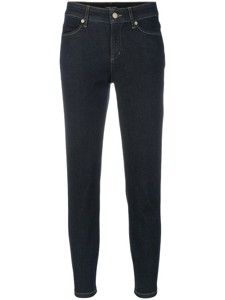 Cambio jeans cropped jeans cropped women spandex cotton blue