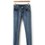 Cotton Elastic Ankle Length Dropped Denim Pants : KissChic.com