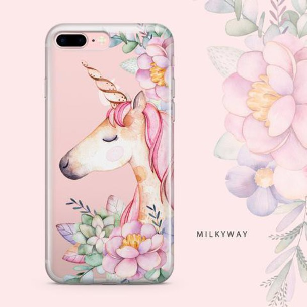Milkyway Cases CLEAR TPU CASE COVER - FLORAL UNICORN