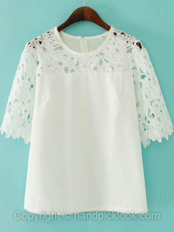 blouse top lace blouse white blouse