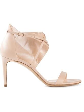 women sandals nude cotton shoes