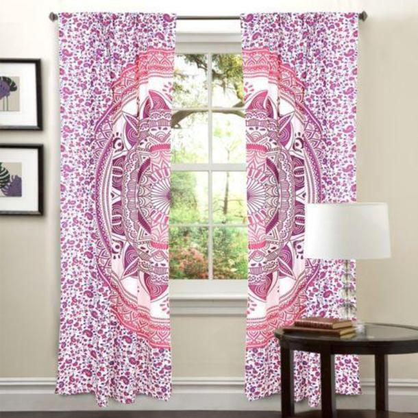 Home Accessory, Mandala, Pink, Curtains, Drapes, Drapery, Window Hanging, Door  Curtains, Door Drapes, Door Treatment, Window Treatment, Tapestry Curtains,  ...