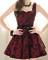 #286 rose flower elegant dress