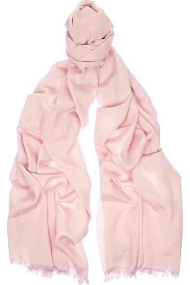 Acne|Cotton and silk-blend scarf|NET-A-PORTER.COM
