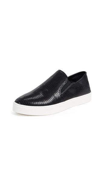 Vince Garvey Slip On Sneakers in black