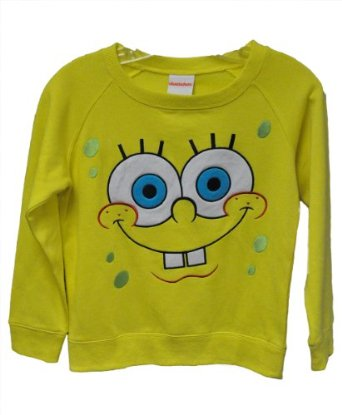 Amazon.com: Spongebob Squarepants Big Face Sweatshirt - Girls: Clothing