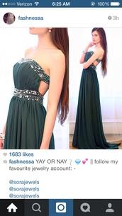 dark green shift dress,formal dress