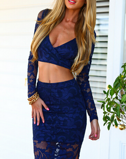 Cute two piece lace dress hot