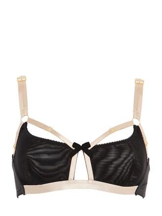 bra soft black beige underwear