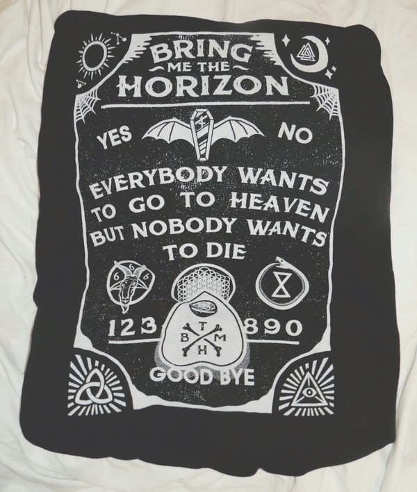 shirt black bring me the horizon bring me the horizon female top hospital for souls ouija board shirt ouija board black top graphic tee