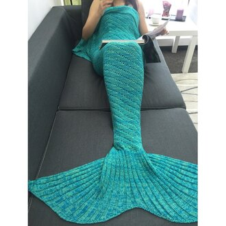 home accessory gamiss blanket mermaid blue turquoise style cute christmas holiday gift gift ideas knitwear chic tumblr black friday cyber monday