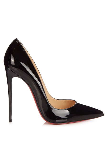christian louboutin pumps leather black shoes