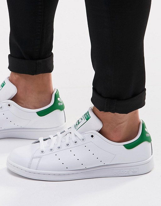 separation shoes 0578b e80d0 adidas Originals Stan Smith Leather Trainers In White M20324 at asos.com