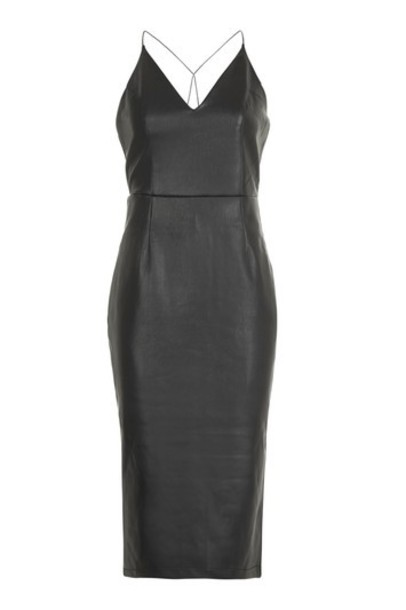 Topshop dress midi dress midi black