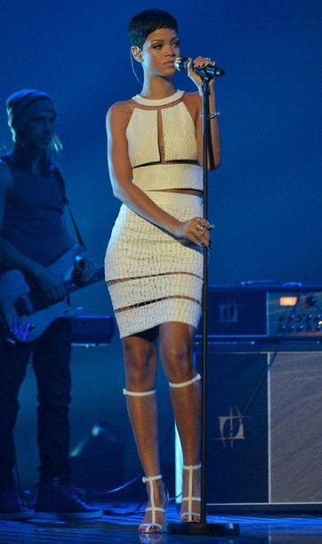 dress rihanna alexandr wang white dress shoes