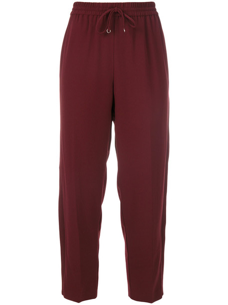 T by Alexander Wang pants zipped pants cropped women red