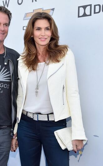 jacket cindy crawford biker jacket
