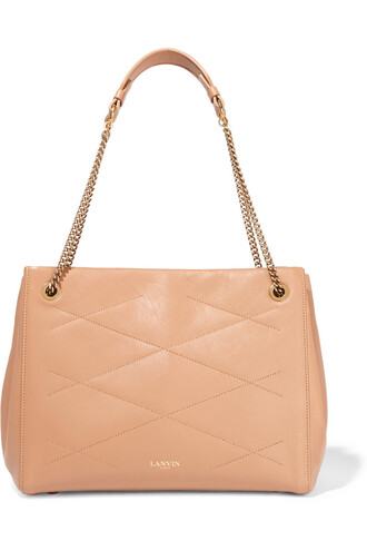 quilted bag shoulder bag leather