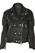 Burberry Prorsum|Quilted leather biker jacket|NET-A-PORTER.COM