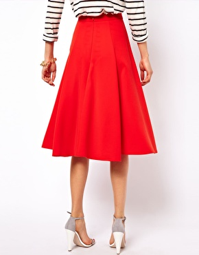 ASOS | ASOS Full Midi Circle Skirt with Pockets at ASOS