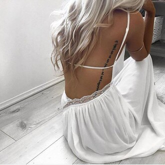 dress bohemian white lace hollister blonde hair sexy boho dress abercrombie & fitch strappy white dress backless dress romantic summer dress long hair sundress lace dress white lace trim strap dress maxi dress white maxi dress open back dresses romantic dress summer dress